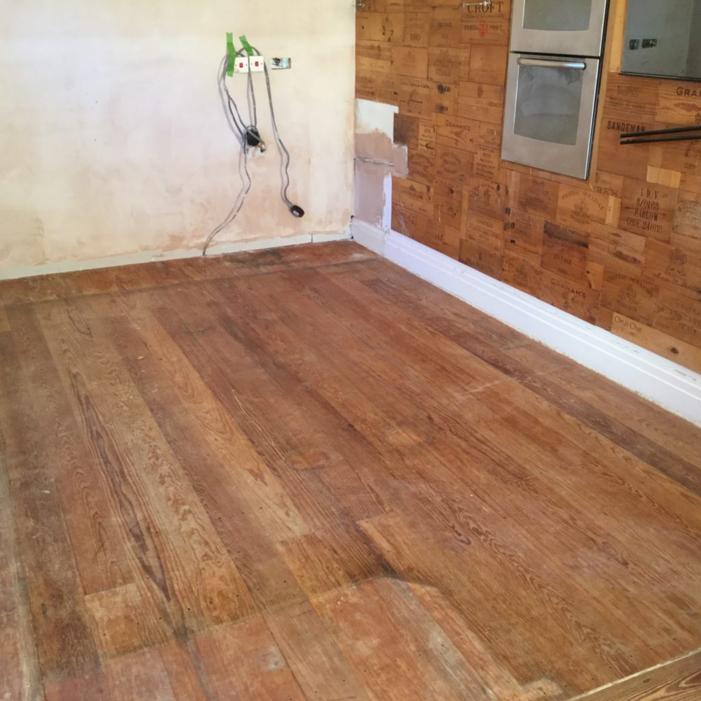 sanding of a pitch pine floor chester wood flooring. Black Bedroom Furniture Sets. Home Design Ideas