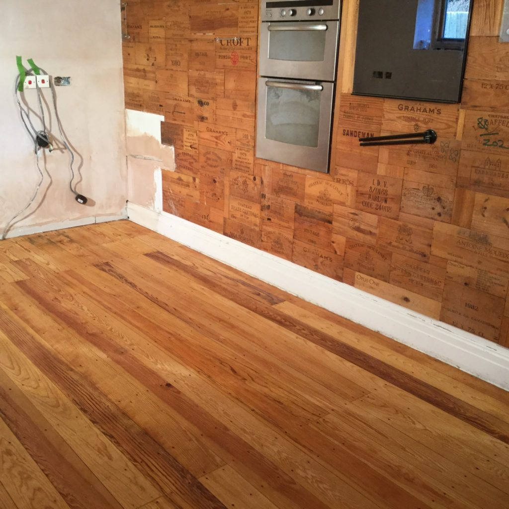 Sanding Of A Pitch Pine Floor