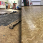 Floor restoration project in chester
