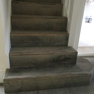 wood flooring on stairs