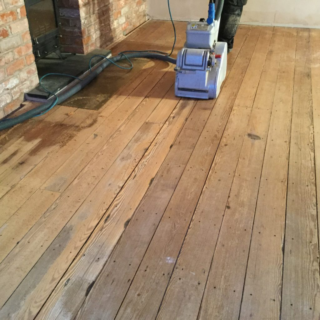 Sanding Of A Pitch Pine Floor Chester Wood Flooring Chester Wood Flooring