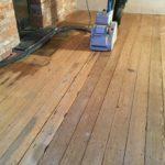 pitch pine floor sanding