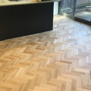 harringbone parquet in chocolate