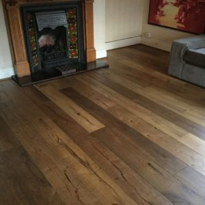 Engineered hardwood flooring, with special finish