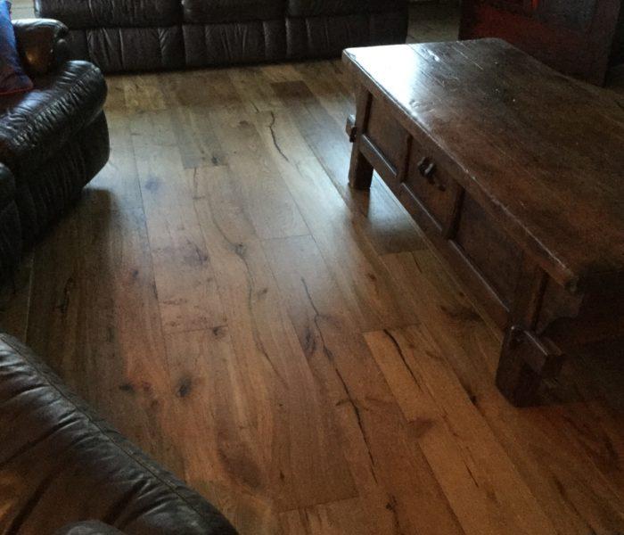 Engineered hardwood flooring, with special finish