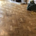 WOCA 2k invisible lacquer, giving the floor a natural finish.