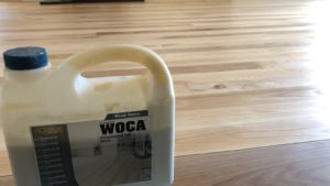 Ash Floor restoration Woca diamond oil white