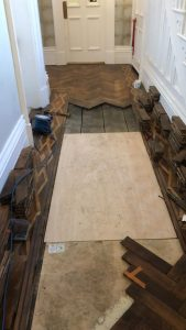 1780s wood flooring restoration